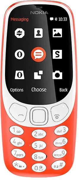 Klasyczne telefony komórkowe - Nokia 3310 (2017) Czerwona