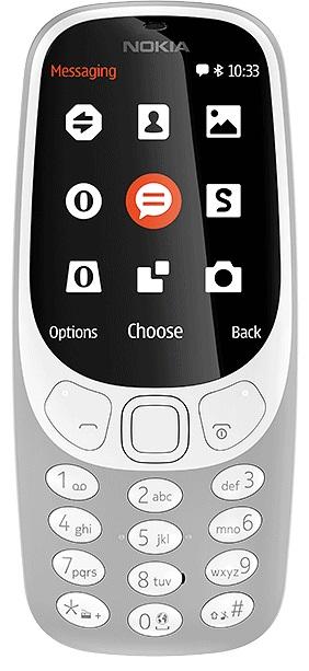 Klasyczne telefony komórkowe - Nokia 3310 (2017) Szara
